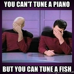Double Facepalm - You can't tuNe a piano But you can tunE a fish
