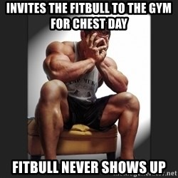 gym problems - Invites the fitbull to the gYm for chest day Fitbull never shows up