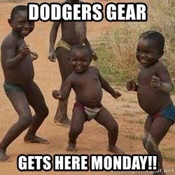 Dancing African Kid - Dodgers gear  Gets here monday!!