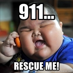 Fat Asian Kid - 911... Rescue me!