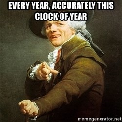 Ducreux - Every year, accurately this clock of year