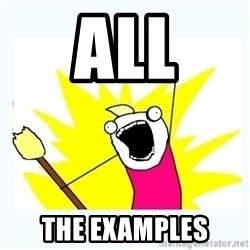 All the things - All the examples