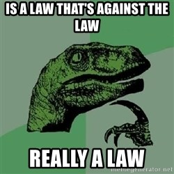 Philosoraptor - Is a law that's against The law Really a law