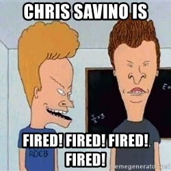 Beavis and butthead - Chris Savino is Fired! Fired! Fired! Fired!