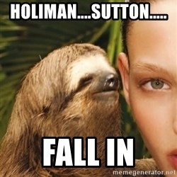 The Rape Sloth - Holiman....sutton..... Fall in