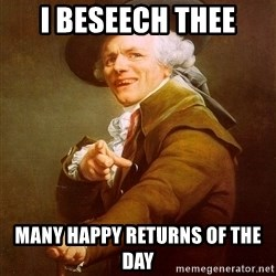 Joseph Ducreux - I beseech thee many happy returns of the day