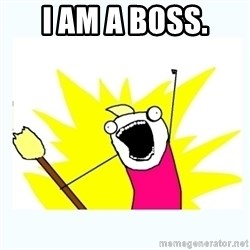 All the things - I am a boss.