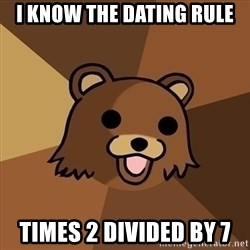 Pedobear - i know the dating rule times 2 divided by 7