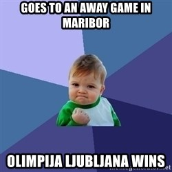 Success Kid - Goes to an away Game in Maribor Olimpija Ljubljana wins