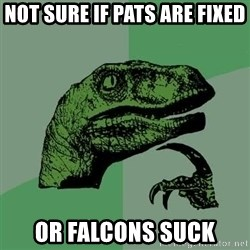 Raptor - Not sure if Pats are fixed Or FALCONs suck