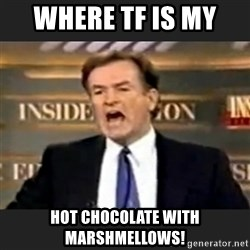 Angry Bill O'Reilly - where tf is my  hot chocolate with marshmellows!