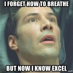 i know kung fu - I forget how to breathe But now i know excel