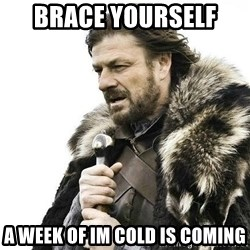 Brace Yourself Winter is Coming. - Brace yourself  A week of im cold is coming
