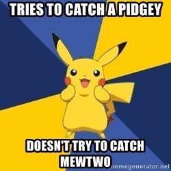 Pokemon Logic  - Tries to catch a pidgey Doesn't try to catch mewtwo