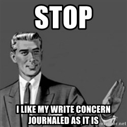 Correction Guy - stop i like my write concern journaled as it is
