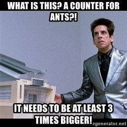 Zoolander for Ants - what is this? a counter for ants?! it needs to be at least 3 times bigger!