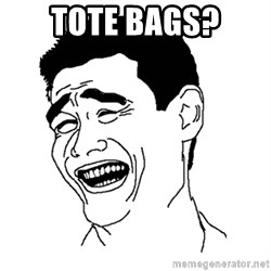 Asian Troll Face - TOTE BAGs?