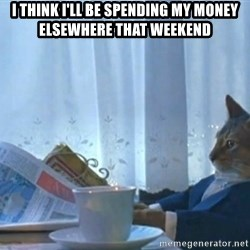 newspaper cat realization - I think i'll be spending my money elsewhere that weekend