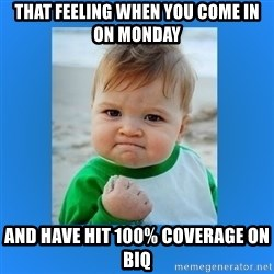 yes baby 2 - That feeling when you come in on monday and have hit 100% coverage on BIQ