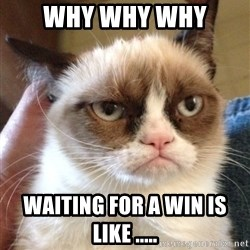 Grumpy Cat 2 - why why why waiting for a win is like .....