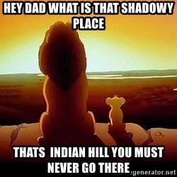 simba mufasa - Hey Dad what is that shadowy place  thats  indian hill you must never go there