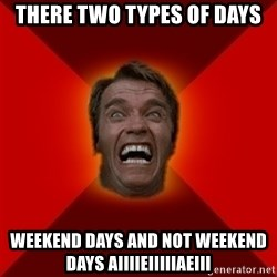 Angry Arnold - There two types of days Weekend days and not weekend days aiiiieiiiiiAeiii