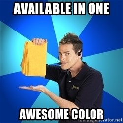 Shamwow Guy - Available in one  Awesome color