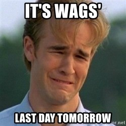 90s Problems - It's Wags' Last Day Tomorrow
