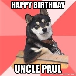 Cool Dog - happy Birthday Uncle Paul