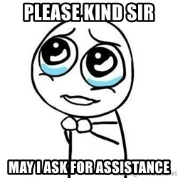 Please guy - please kind sir may i ask for assistance
