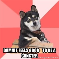 Cool Dog - damnit feels good    to be a ganster