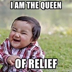 Evil smile child - i am the queen of relief