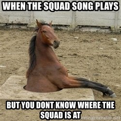 Hole Horse - WHen the squad song plays But you dont know where the squad is at