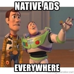 Toy story - Native ads everywhere