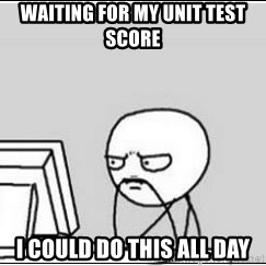 computer guy - waiting for my unit test score I could do this all day