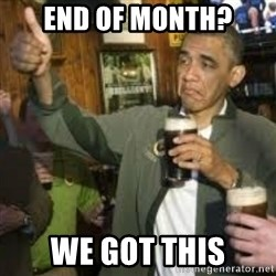 obama beer - End of month? We got this