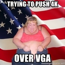 Asinine America - trying to push 4k over vga