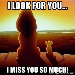 simba mufasa - I look for you...  I Miss you so much!