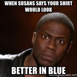 kevin hart nigga - when susans says your shirt would look better in blue