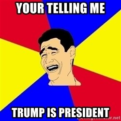 journalist - your telling me trump is president