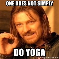 One Does Not Simply - ONE DOES NOT SIMPLY DO YOGA