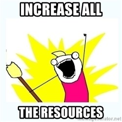 All the things - Increase all The resOurces