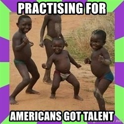 african kids dancing - practising for americans got talent