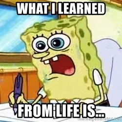 Spongebob What I Learned In Boating School Is - what i learned  from life is...