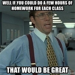 Office Space Boss - Well if you could do a few hours of homework for each class that would be great