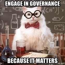 Chemistry Cat - ENGAGE IN GOVERNANCE BECAUSE IT MATTERS