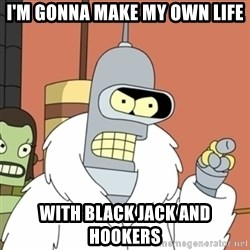 bender blackjack and hookers - I'm gonna make my own life with black jack and hookers