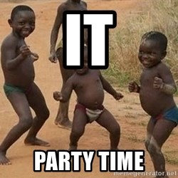 Dancing African Kid - It Party time