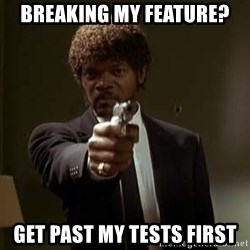 Jules Pulp Fiction - Breaking my feature? GET PAST MY TESTS FIRST
