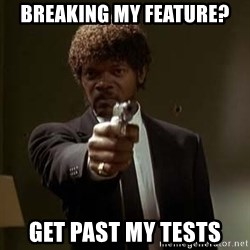 Jules Pulp Fiction - breaking my feature? GET PAST MY TESTS